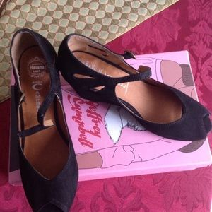 NWT Jeffrey Campbell wedge, open toe, with strap.